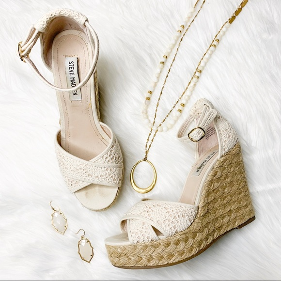 Steve Madden Shoes - Steve Madden Marrvil Natural Platform Wedge Sandal